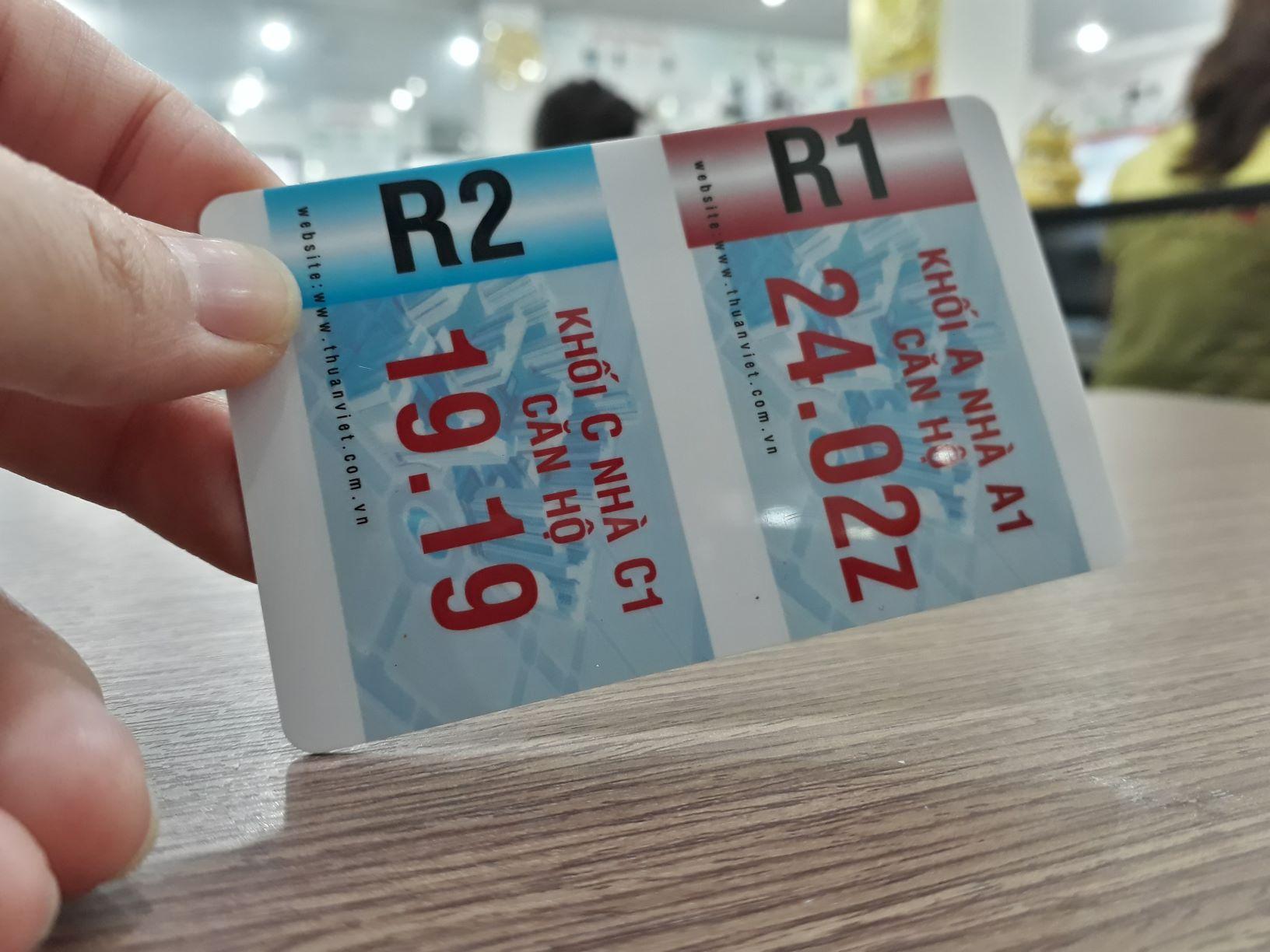 Thẻ cao cấp được ứng dụng nhiều trong các tòa nhà, làm thẻ giữ xe,...