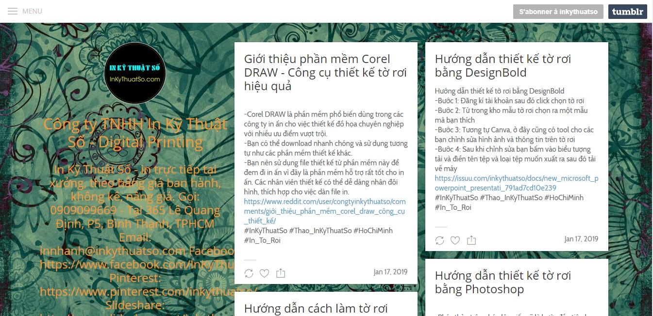Cập nhật thêm thông tin tại trang Tumblr của InKyThuatSo