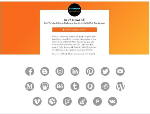 About.me giới thiệu InKyThuatSo với khách hàng, là nơi liên kết các trang mạng xã hội giúp bạn dễ dàng tim kiếm chúng tôi hơn