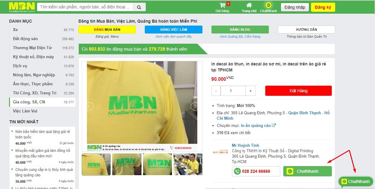 Đặt mua hàng in Decal tại website MuaBanNhanh