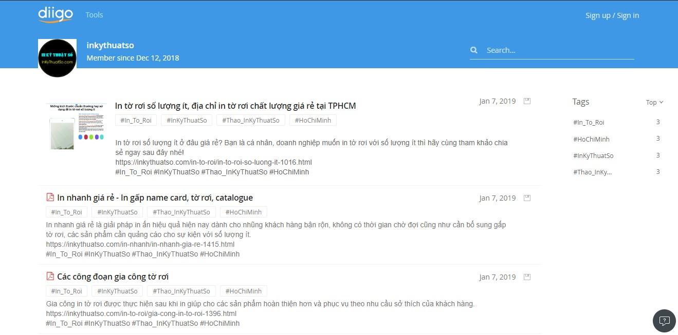 Diigo - InKyThuatSo mang đến nhiều thông tin bổ ích