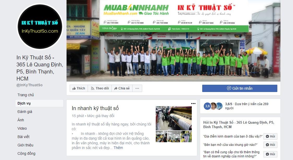 Facebook của InKyThuatSo - nơi kết nối thông tin, đặt hàng nhanh chóng