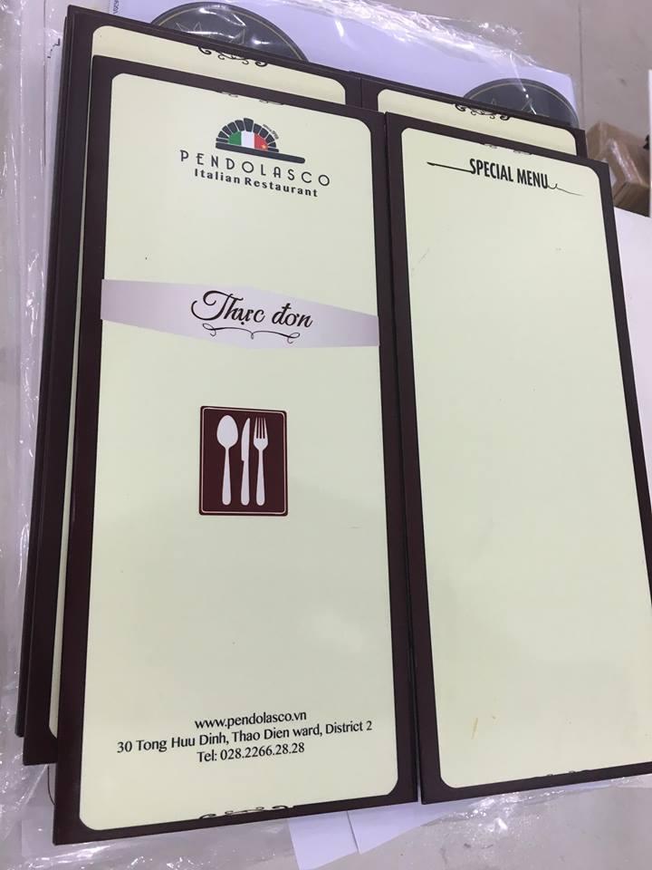 Một số loại menu nhà hàng cao cấp thường gặp
