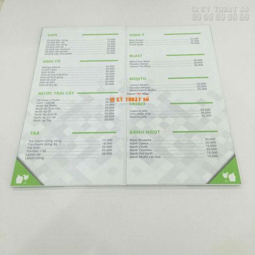 Thế nào là một menu cafe tiêu chuẩn? - Tư vấn In menu đẹp, in menu nhanh