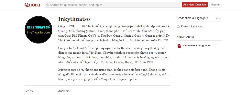 Quora- kênh hỏi đáp kết nối mọi người của InKyThuatSo