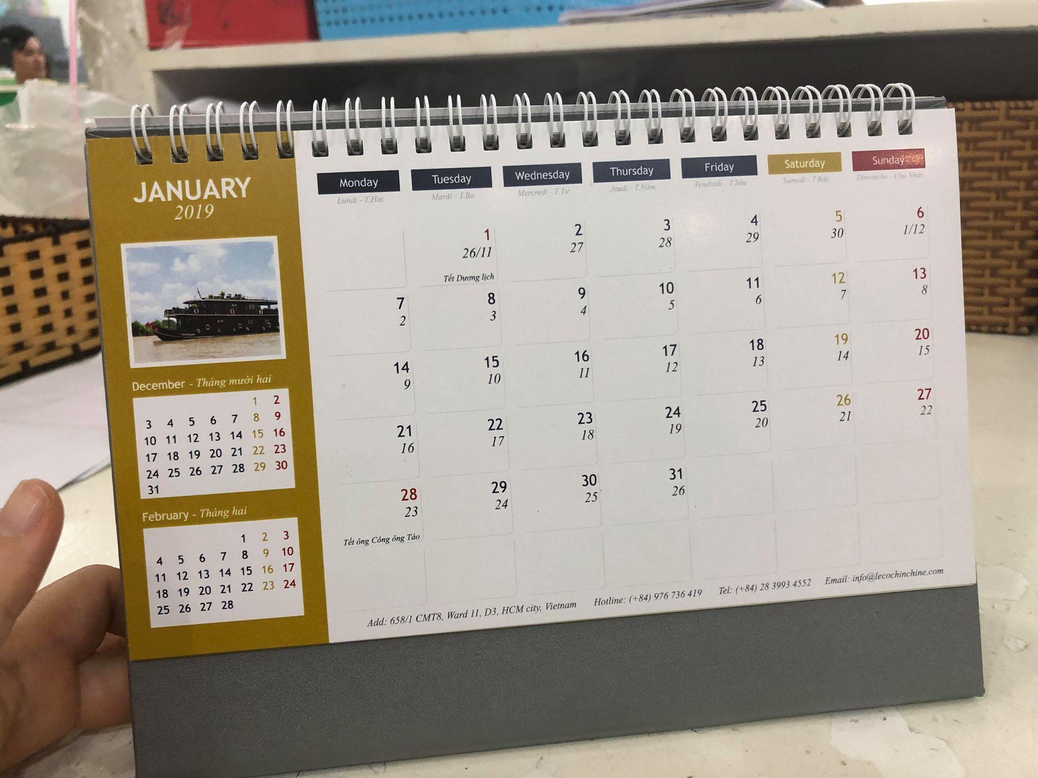 Đặt in lịch để bàn độc quyền cùng InKyThuatSo