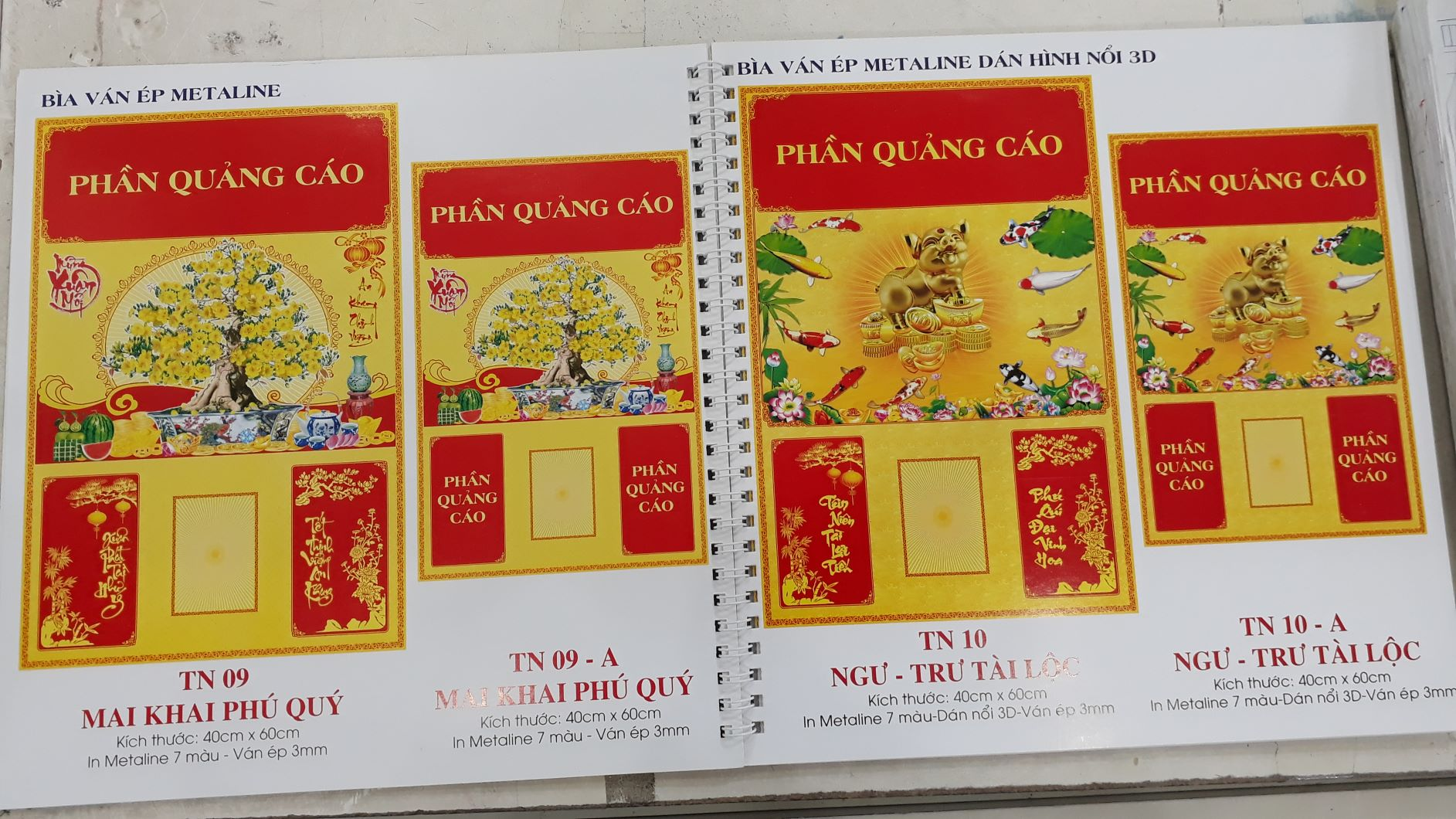 Tham khảo in lịch theo catalogue mẫu của InKyThuatSo