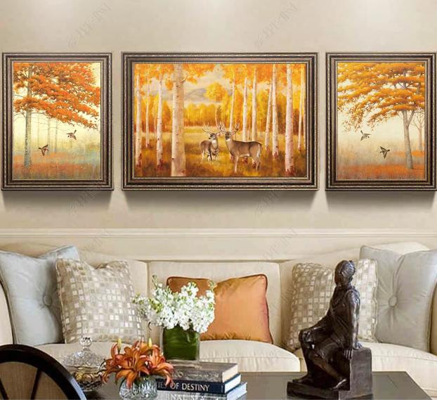 Tranh phong cảnh trang trí phòng khách