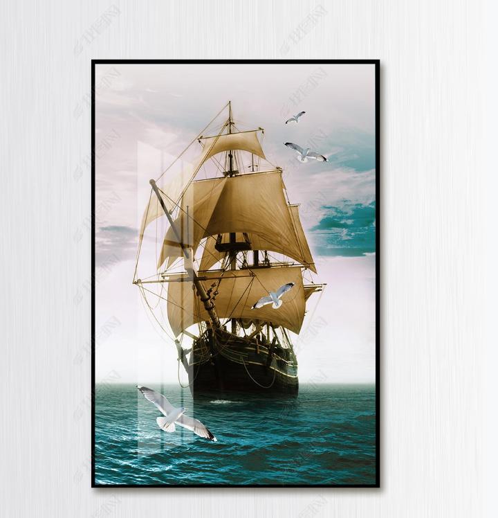 Tranh canvas thuận buồm xuôi gió