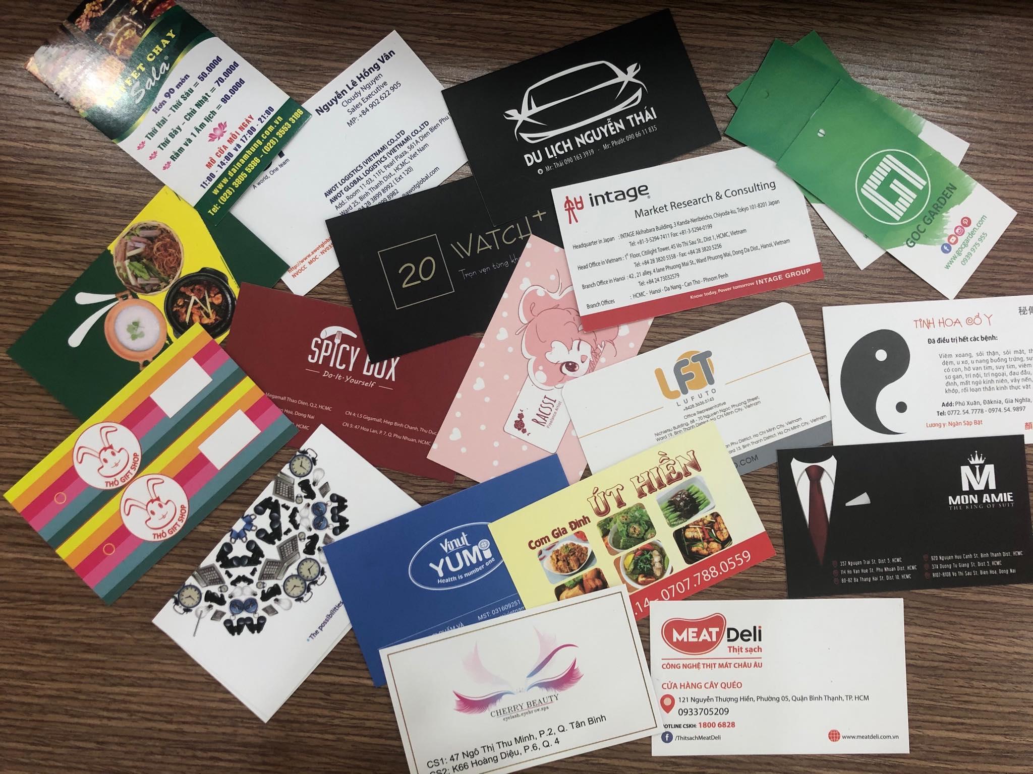 in card visit chất lượng bằng giấy mỹ thuật