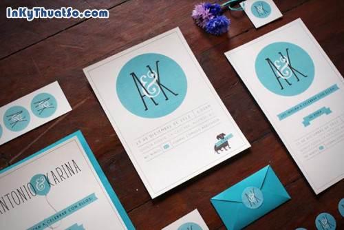 in thiệp cưới bằng giấy mỹ thuật