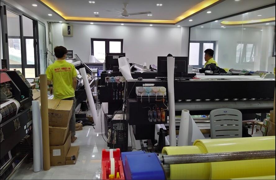 Phòng in sản phẩm mực dầu tại công ty in
