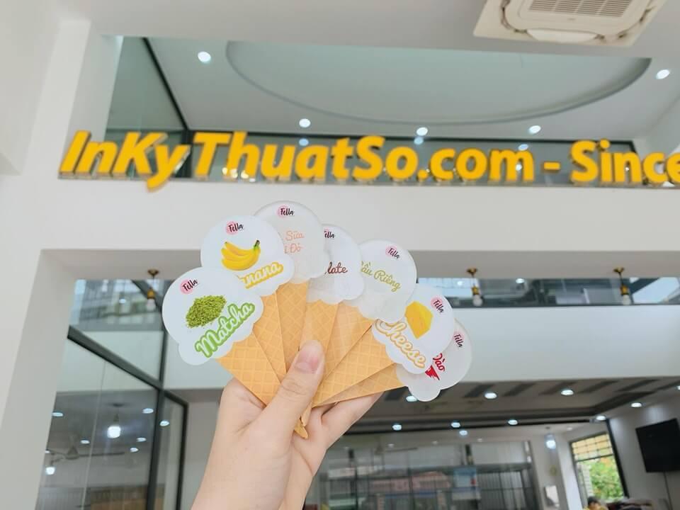 Báo giá in mica nhựa giá rẻ TPHCM - In UV lên mica trong, mờ cắt chữ, logo, hình sticker quảng cáo