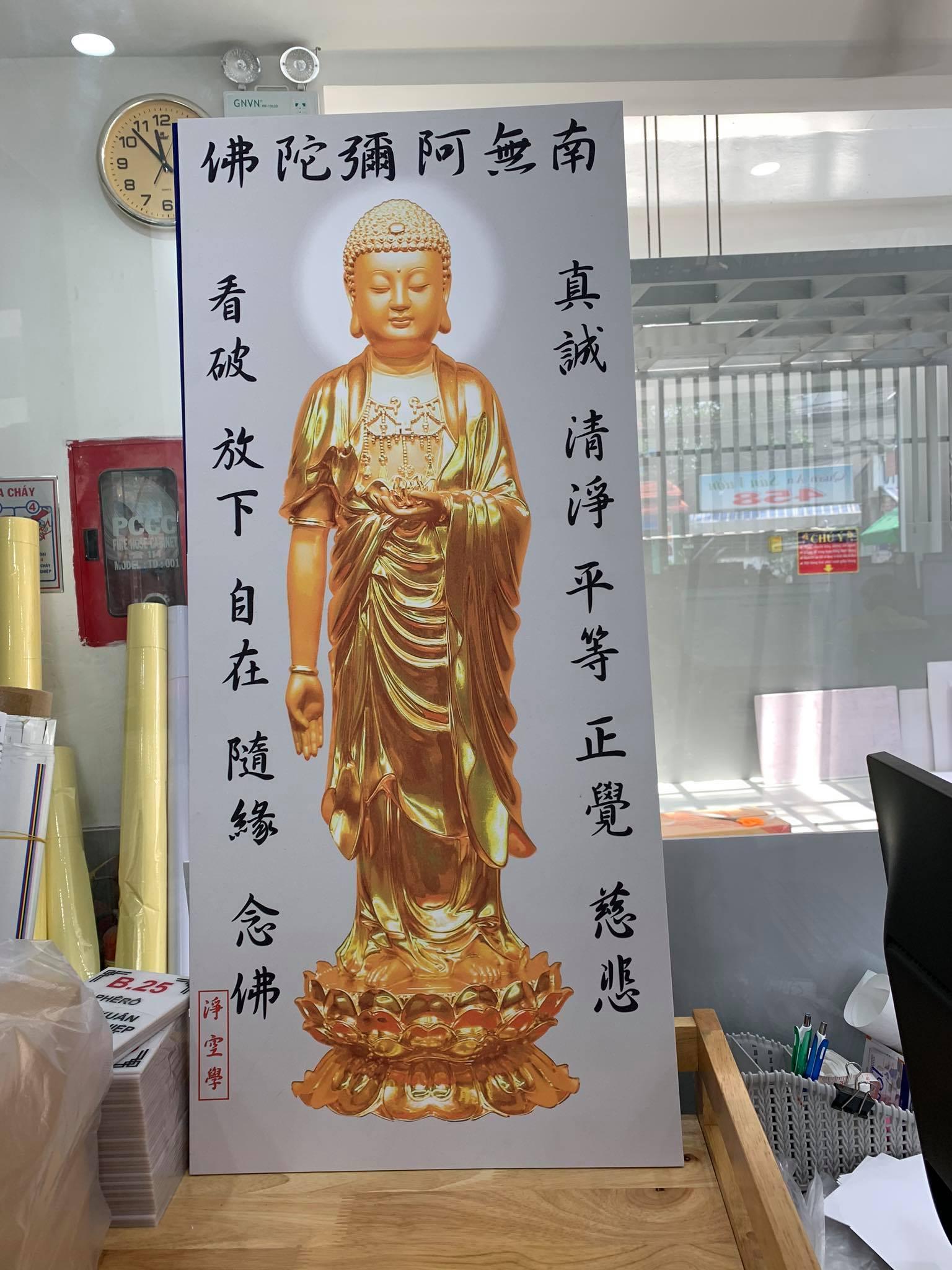 Hình ảnh in tranh Nam Mô A Di Đà Phật 2