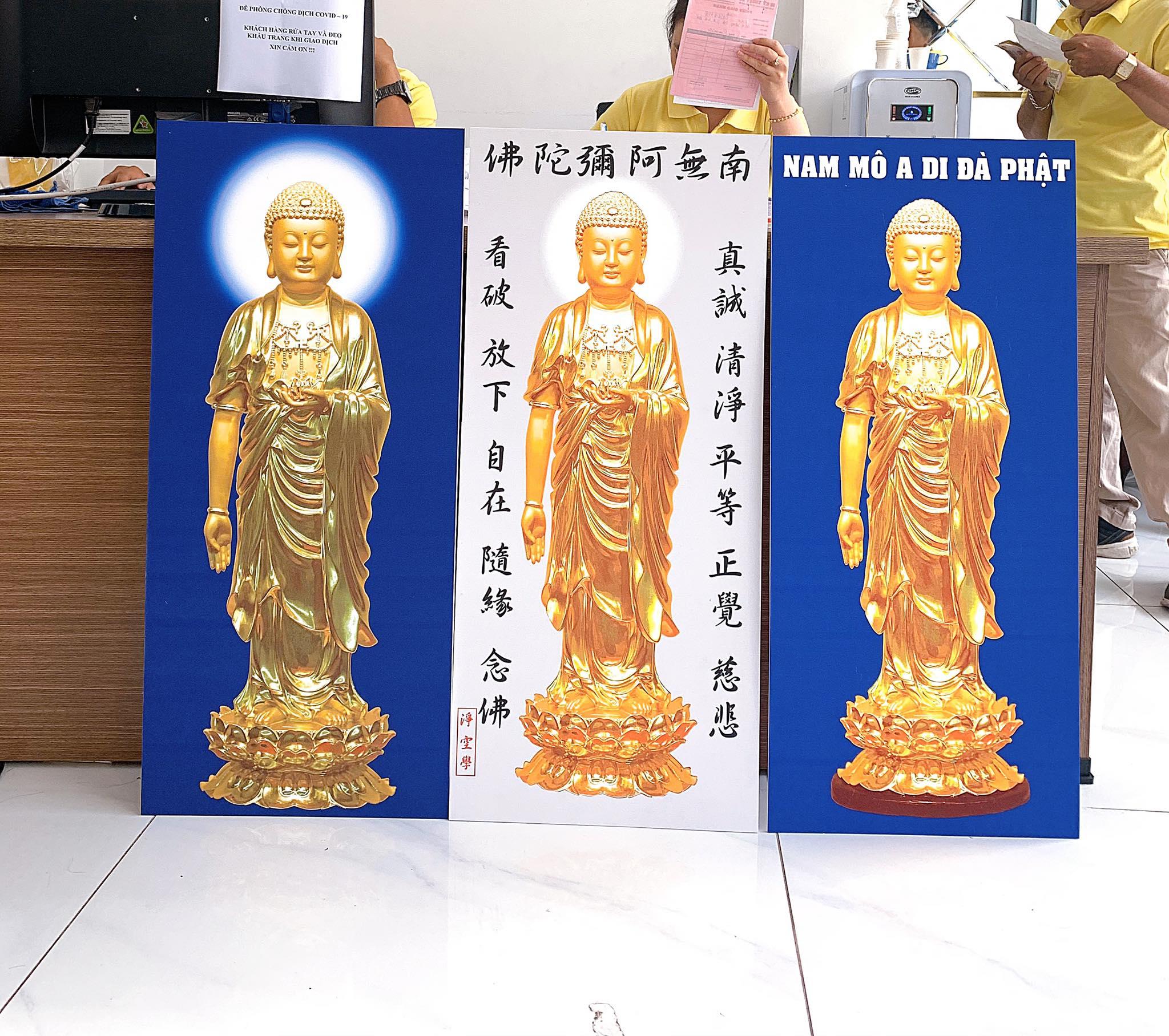 Hình ảnh in tranh Nam Mô A Di Đà Phật