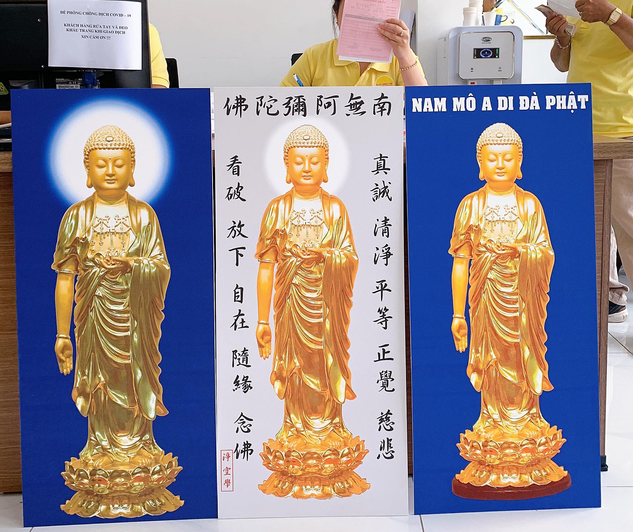 Hình ảnh in tranh Nam Mô A Di Đà Phật 1